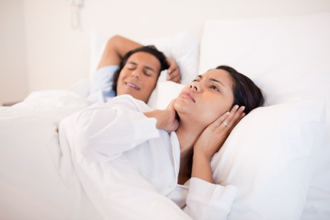 Woman can't sleep next to her snoring boyfriend