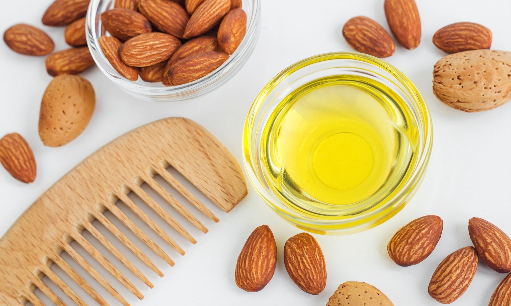 almond oil hair mak