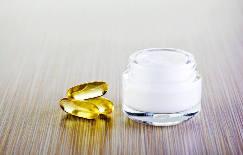 Cream and vitamin pills