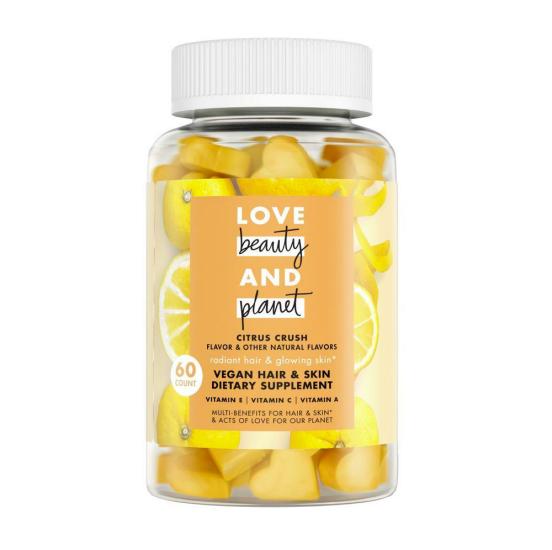 Love, Beauty and Planet Citrus Crush Vegan Hair & Skin Dietary Supplement